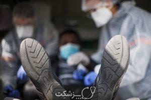 کرونا ویروس از راه لباس منتقل نمی شود.   پزشکت
